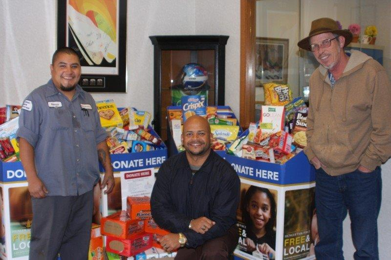 Image of Hunger Task Force donations